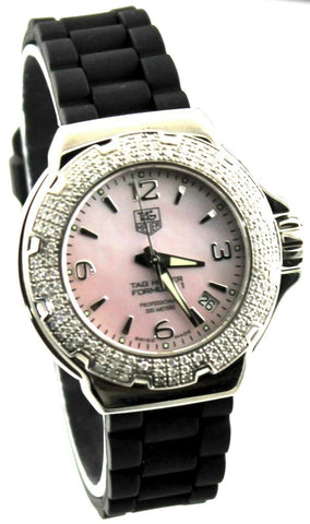 TAG HEUER WOMEN'S FORMULA 1  WAC1216.BT0711 PINK PEARL DIAMOND WATCH BUY IT NOW