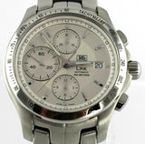 TAG HEUER LINK CJF2111.BA0594 CHRONOGRAPH AUTOMATIC SILVER EXHIBITION MENS WATCH