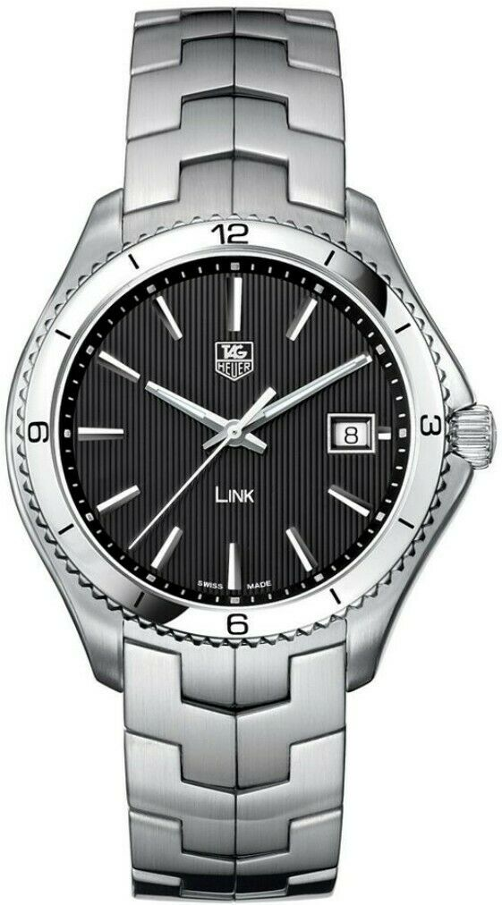 TAG HEUER MENS LINK WAT1110.BA0950 SWISS QUARTZ MENS LUXURY BLACK 40MM WATCH