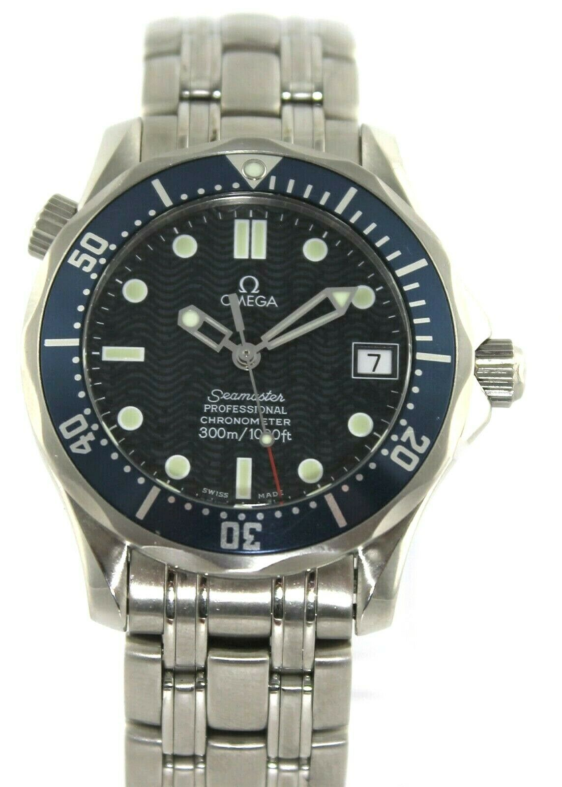 OMEGA SEAMASTER JAMES BOND CHRONOMETER 2551.80 PROFESSIONAL MIDSIZE BLUE WATCH