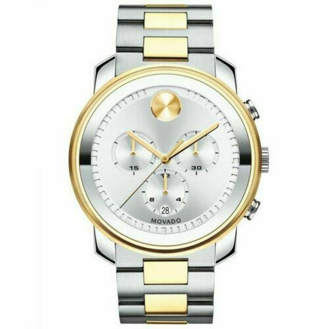 BRAND NEW MOVADO MEN'S BOLD 3600432 SWISS QUARTZ CHRONOGRAPH TWO TONE 43MM WATCH