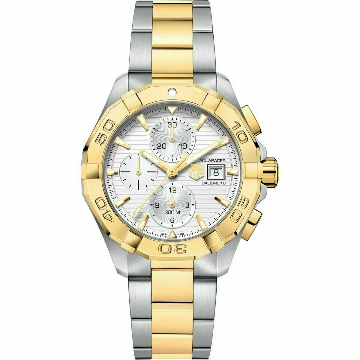 TAG HEUER MEN'S AQUARACER CAY2121.BB0923 AUTOMATIC CHRONOGRAPH GOLD 43MM WATCH