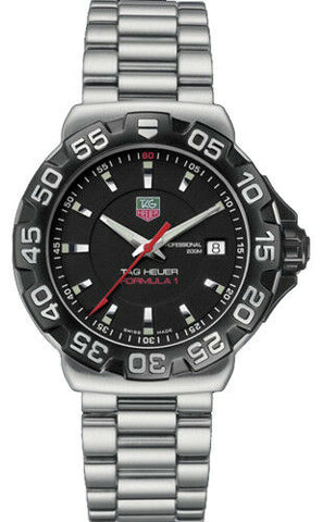 TAG HEUER FORMULA 1 WAH1110.BA0850 QUARTZ BLACK DIAL DIVERS STEEL SPORT WATCH