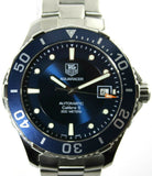 ORIGINAL TAG HEUER AQUARACER WAN2111.BA0822 AUTOMATIC CALIBRE 5 MENS BLUE WATCH