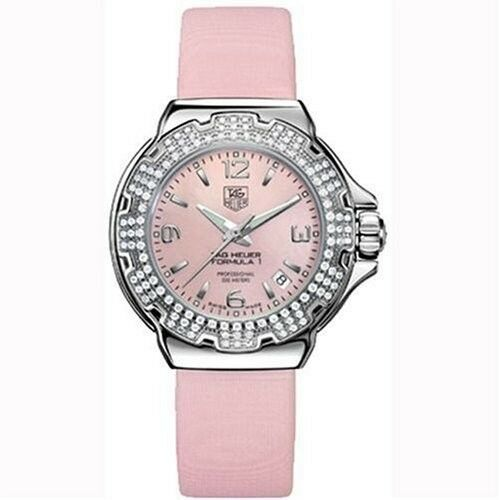 GIFT IDEA TAG HEUER WOMEN'S FORMULA 1  WAC1216.FC6220 PINK PEARL DIAMOND WATCH