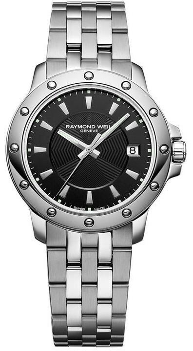 NEW MENS RAYMOND WEIL TANGO 5599-ST-20001 MEN'S BLACK DIAL STEEL LUXURY WATCH