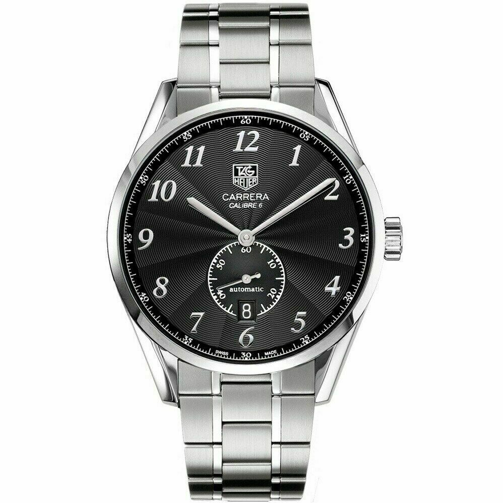 TAG HEUER CARRERA HERITAGE WAS210.BA0732 AUTOMATIC CALIBRE 6 MENS BLACK WATCH