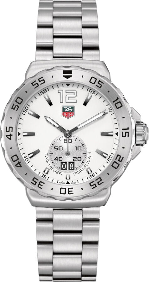 TAG HEUER FORMULA 1 WAU1113.BA0858 GRANDE DATE QUARTZ MENS WHITE WATCH GIFT IDEA