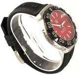 TAG HEUER FORMULA 1 WAH1112.BT0714 BLACK RUBBER SWISS RED QUARTZ SPORTS WATCH