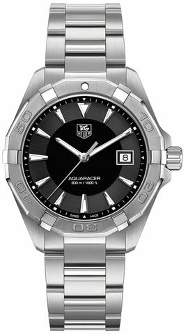 TAG HEUER WAY1110.BA0828 AQUARACER SWISS QUARTZ MENS BLACK SWISS LUXURY WATCH