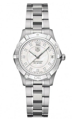 TAG HEUER AQUARACER WAF1312.BA0817 DIAMOND ACCENTED PEARL MIDSIZE LADIES WATCH