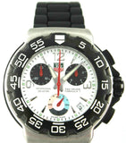 TAG HEUER FORMULA 1 CAC1111.BT0705 QUARTZ CHRONOGRAPH WHITE MENS RUBBER WATCH