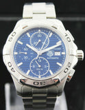 TAG HEUER AQUARACER CAP2112.BA0833 AUTOMATIC CHRONOGRAPH BLUE LUXURY SWISS WATCH