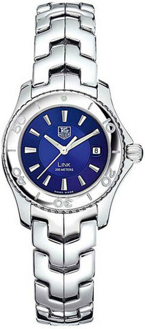 AG HEUER LADIES LINK WJ1312.BA0572 BLUE SWISS QUARTZ LUXURY WATCH GIFT IDEA BOX