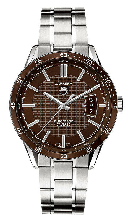 GIFT IDEA  TAG HEUER CARRERA MEN'S AUTOMATIC BROWN STEEL WATCH WV211N.BA0787