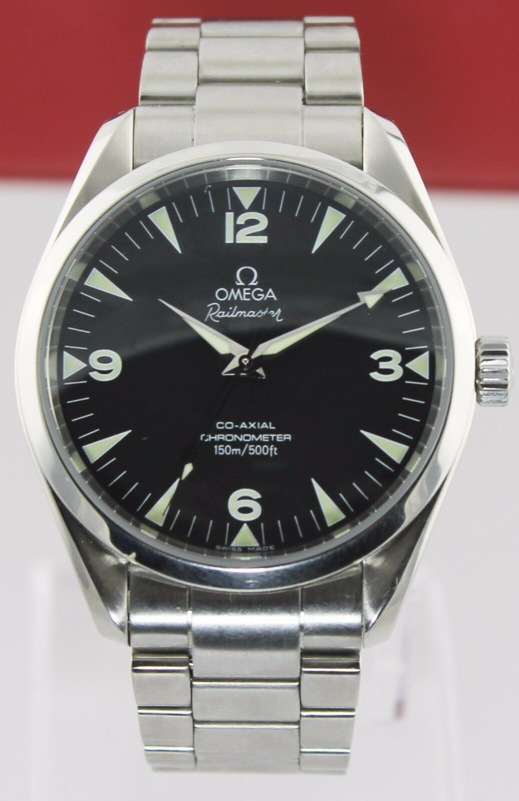 OMEGA AQUA TERRA RAILMASTER XXL 2503.52 AUTOMATIC  CO-AXIAL STEEL BLACK WATCH
