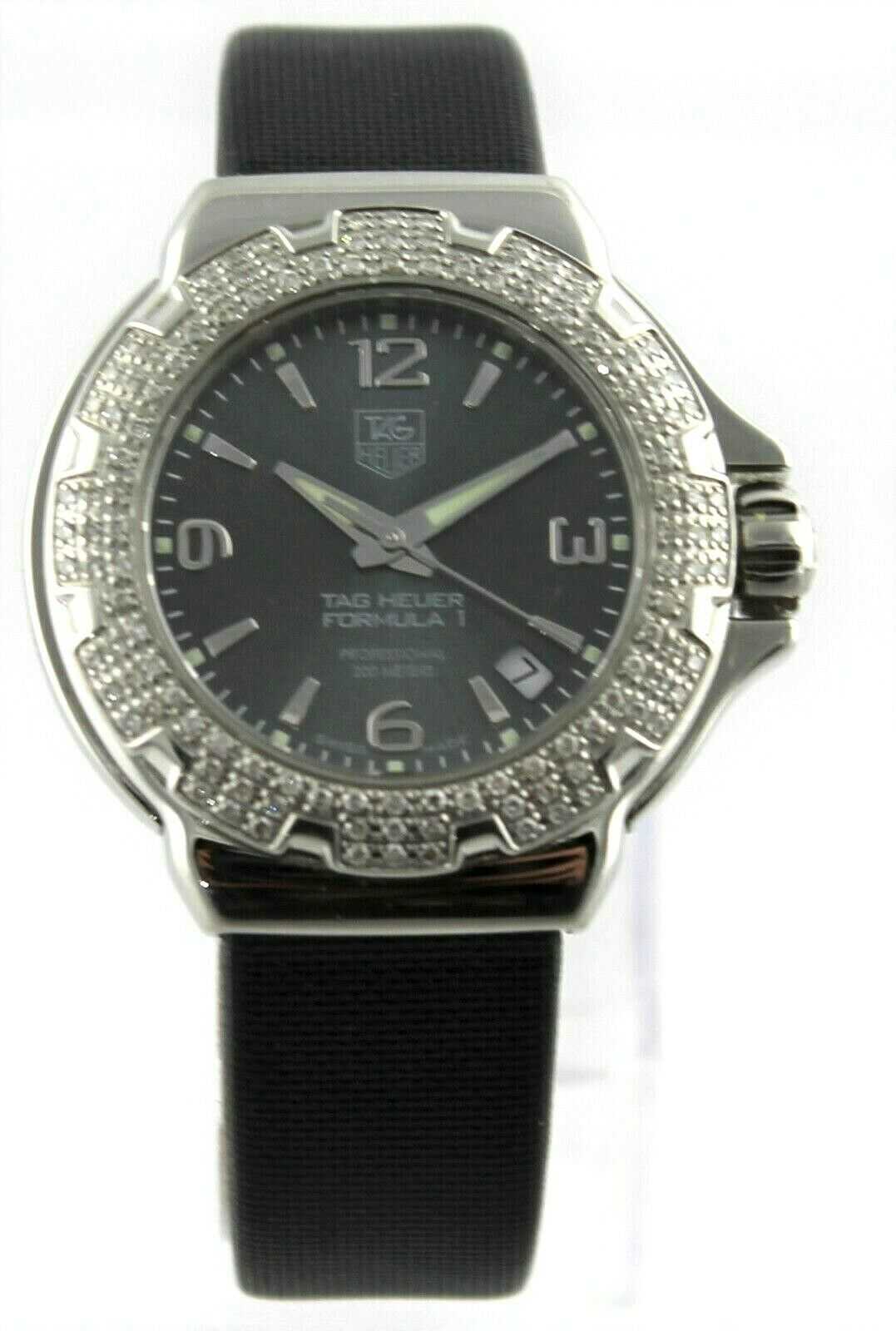 GIFT IDEA TAG HEUER LADIES FORMULA 1 WAC1218.FC6218 DIAMOND LADIES SATIN WATCH