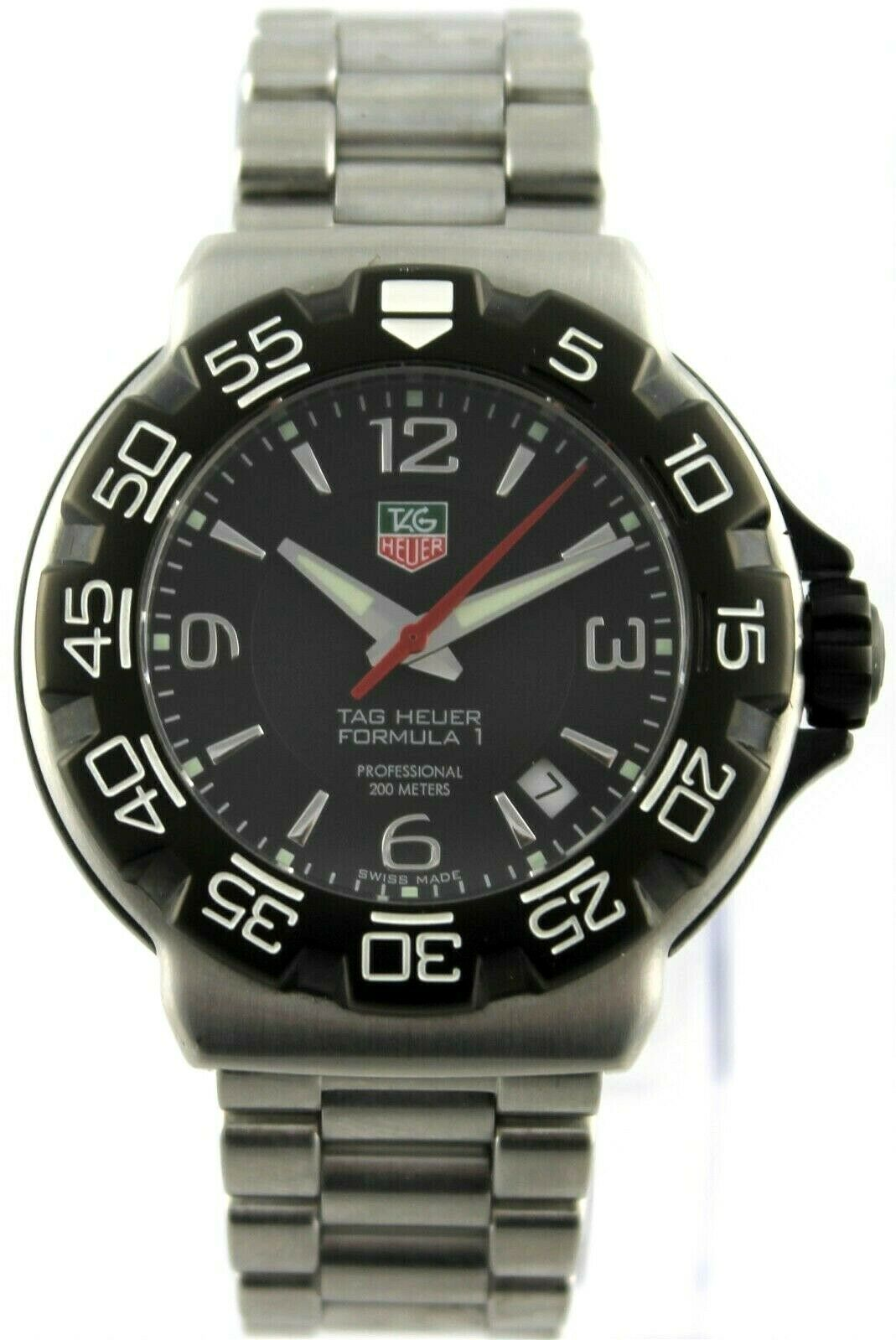 TAG HEUER FORMULA 1 WAC1110.BA0850 STEEL SWISS QUARTZ MENS SPORT DATE F1 WATCH