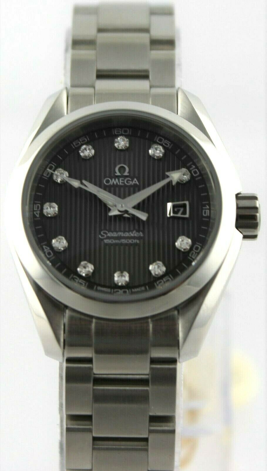NEW OMEGA SEAMASTER AQUA TERRA 231.10.30.61.56.001 GRAY QUARTZ DIAMOND WATCH