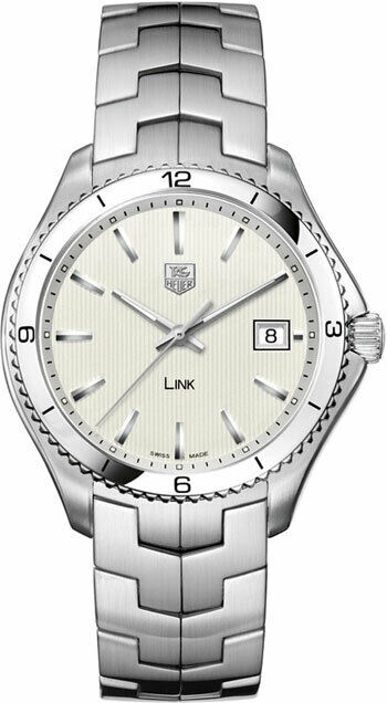 TAG HEUER MENS LINK WAT1111.BA0950 SWISS QUARTZ MENS LUXURY SILVER 40MM WATCH