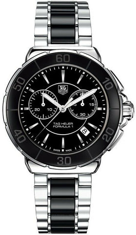 GIFT IDEA TAG HEUER FORMULA 1 CAH1210.BA0862 BLACK CERAMIC QUARTZ CHRONO WATCH