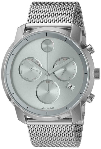 BRAND NEW MOVADO MENS BOLD 3600371 SWISS QUARTZ CHRONOGRAPH DATE MESH 44MM WATCH