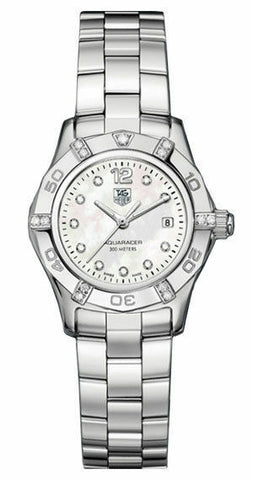 TAG HEUER AQUARACER WAF141G.BA0813 LADIES MOTHER PEARL DIAMOND STUNNING WATCH