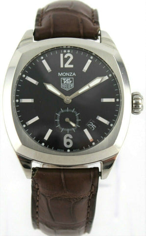 TAG HEUER MONZA WR2110.FC6165 MENS AUTOMATIC BROWN LEATHER WATCH BARGAIN