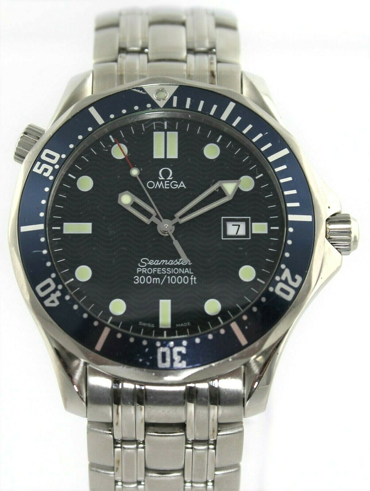 OMEGA SEAMASTER PROFESSIONAL 2541.80 BOND BLUE MENS QUARTZ STEEL LUXURY WATCH