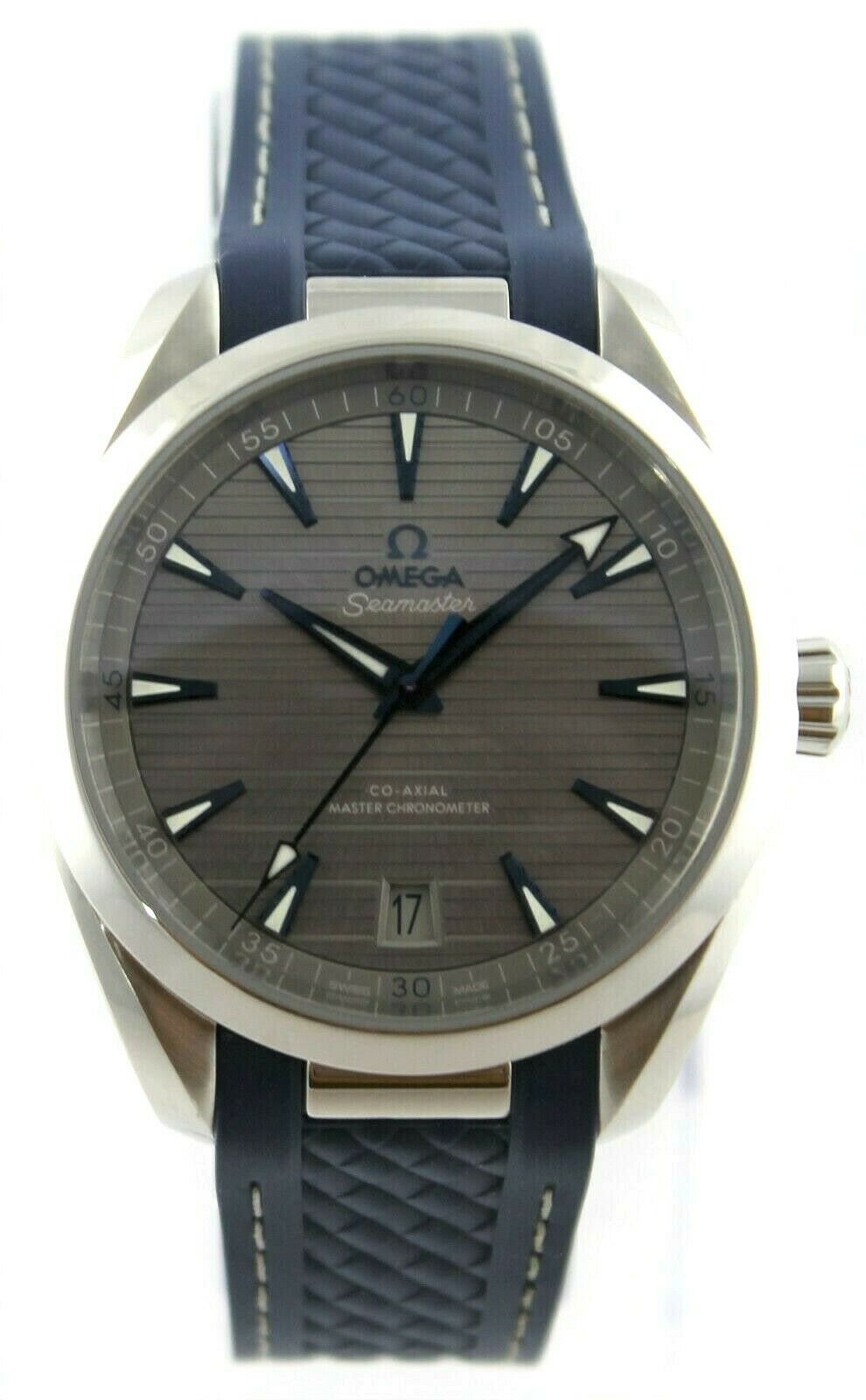 OMEGA SEAMASTER AQUA TERRA 220.12.41.21.06.001 MASTER CHRONOMETER RUBBER WATCH