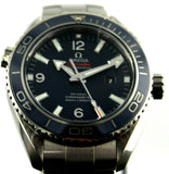 OMEGA SEAMASTER PLANET OCEAN 232.90.38.20.03.001 CERAMIC TITANIUM BLUE WATCH