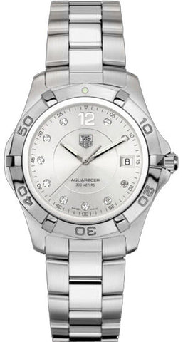 TAG HEUER AQUARACER WAF1117.BA0810 DIAMOND MENS SWISS QUARTZ MENS LUXURY WATCH