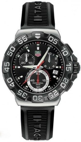 TAG HEUER FORMULA 1 CAH1110.BT0714 CHRONOGRAPH QUARTZ RUBBER BLACK WATCH