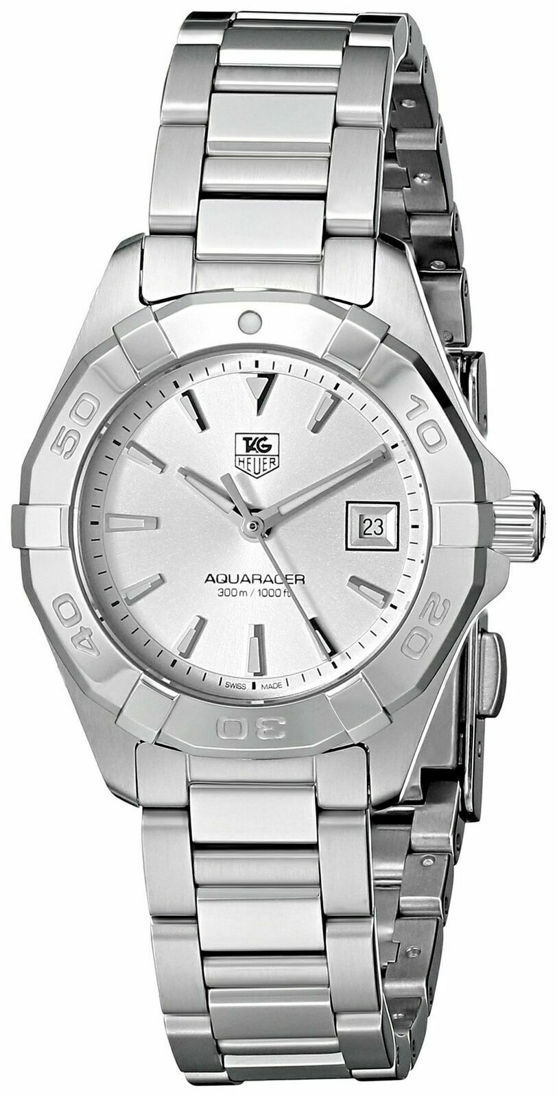 TAG HEUER WOMENS AQUARACER WAY1411.BA0920 SWISS QUARTZ STEEL SILVER SWISS WATCH