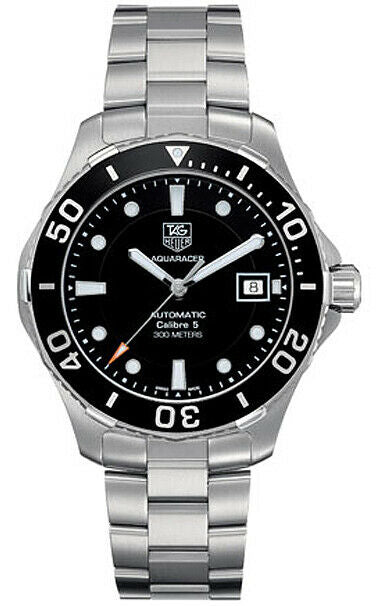 ORIGINAL TAG HEUER AQUARACER WAN2110.BA0822 AUTOMATIC CALIBRE 5 MENS BLACK WATCH