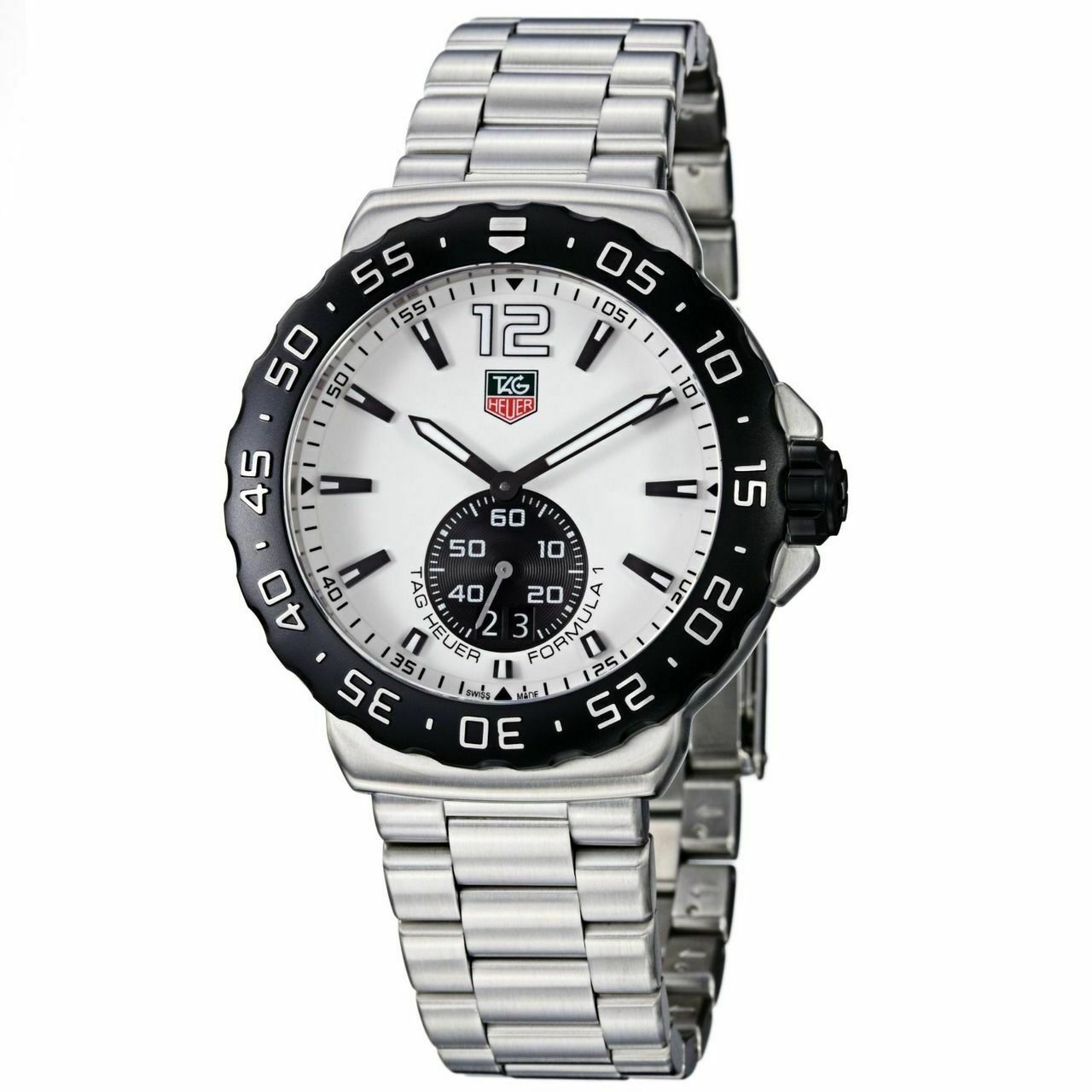 TAG HEUER FORMULA 1 WAU1111.BA0858 MEN'S SWISS QUARTZ WHITE SPORTS STEEL WATCH