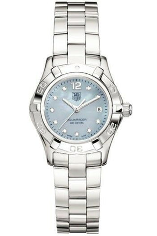 TAG HEUER WAF1419.BA0813 LADIES AQUARACER DIAMOND BLUE PEARL SWISS LUXURY WATCH