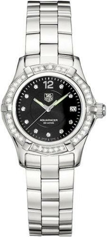 TAG HEUER AQUARACER WAF141D.BA0813 DIAMOND BEZEL STEEL LADIES LUXURY SWISS WATCH
