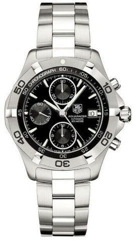 TAG HEUER AQUARACER CAF2110.BA0809 AUTOMATIC CALIBRE 16 BLACK STEEL MENS WATCH