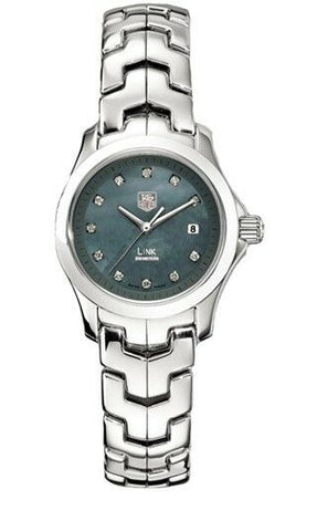 STUNNING TAG HEUER LADIES LINK WJF131C.BA0572 DIAMOND MOTHER OF PEARL WATCH