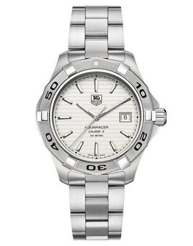 BRAND NEW TAG HEUER AQUARACER WAP2011.BA0830 AUTO CALIBRE 5 SILVER LUXURY WATCH