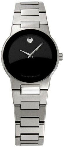 ON SALE NEW IN BOX MOVADO WOMENS SAFIR O0605806 MUSEUM STEEL QUARTZ SWISS WATCH
