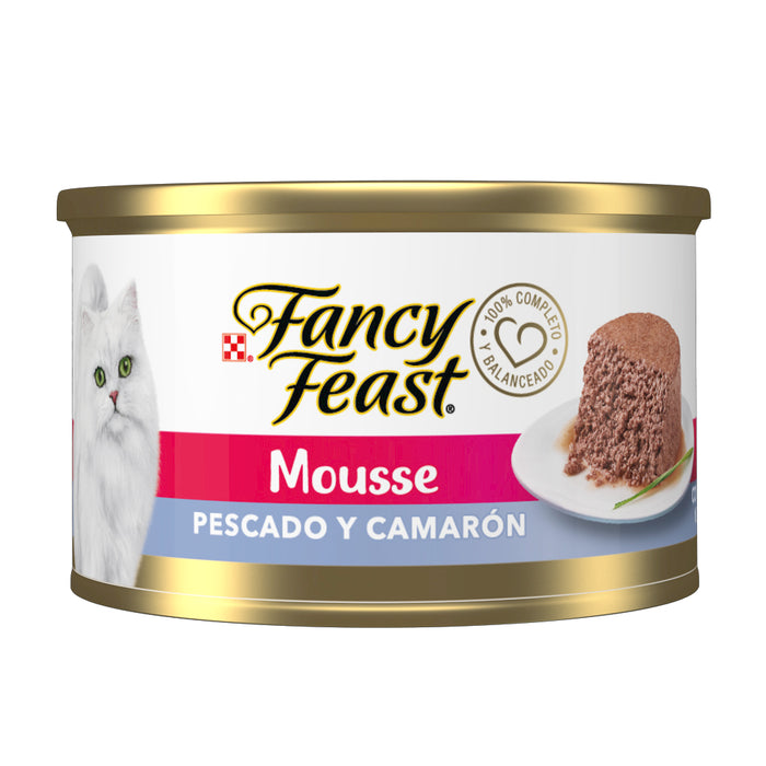 Fancy Feast Mousse Pescado y Camarón 85g