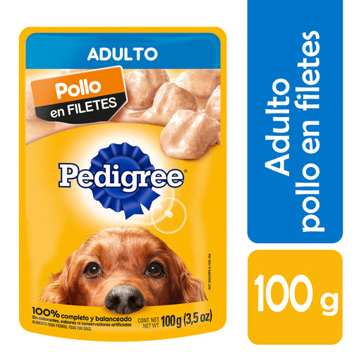 Pedigree Alimento Húmedo. Adulto. Pollo en Filetes. 10 Sobres®