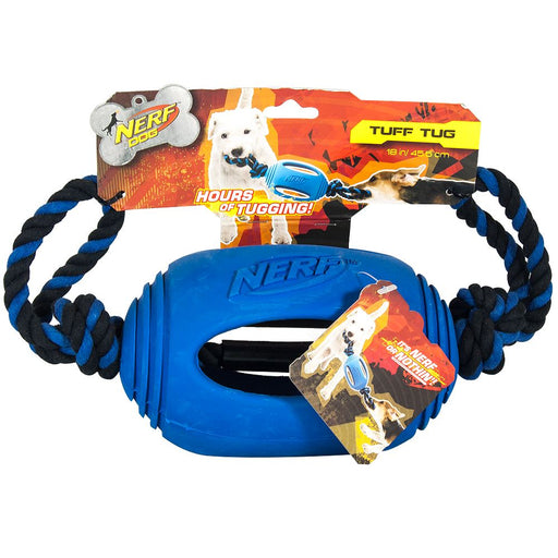 Rubber Tug Football Toy Nerf Dog