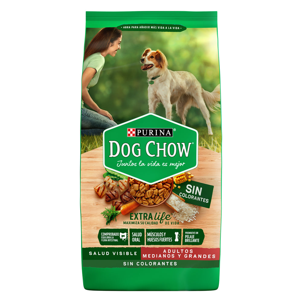 Dog Chow Sin Colorantes Medianos y Grandes