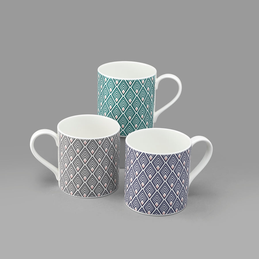 Gatsby Mug in Blue & Blush Pink