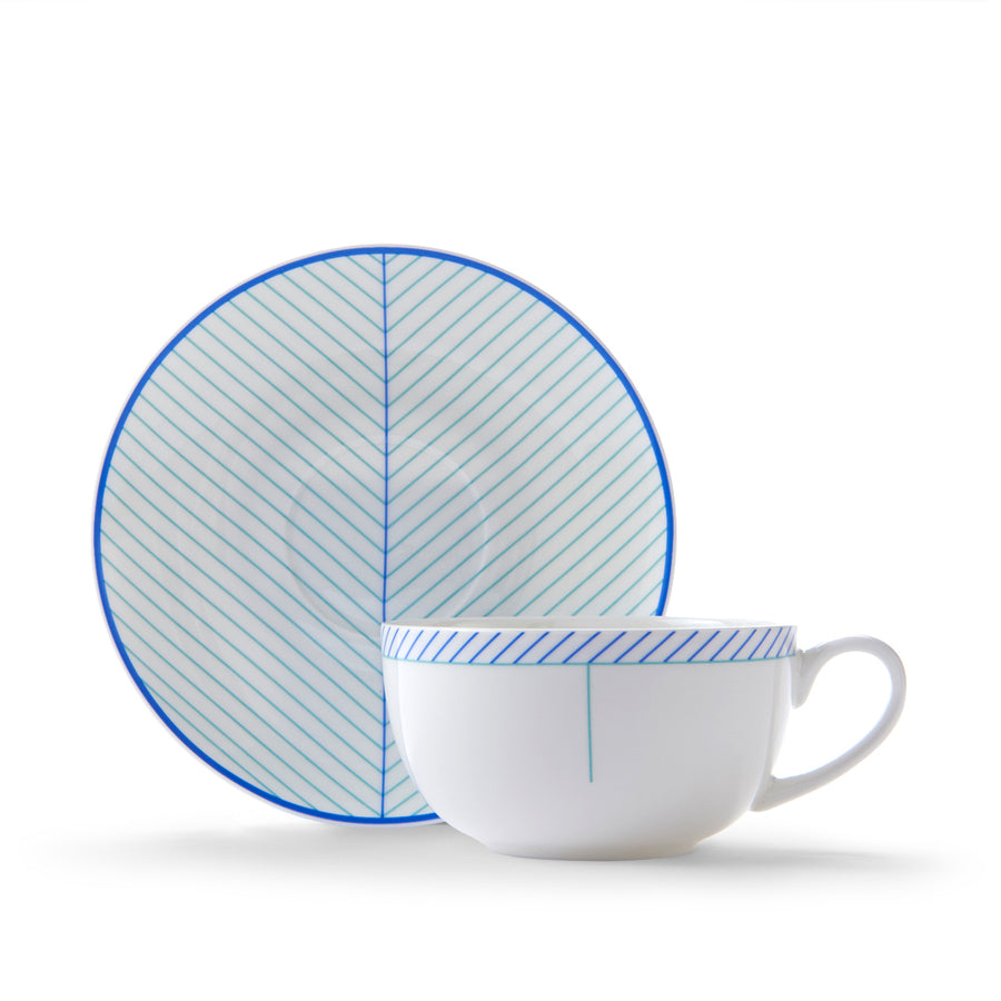 Ebb Cup & Saucer in Blue & Turquoise