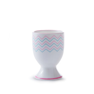 Wave Egg Cup in Pink & Turquoise