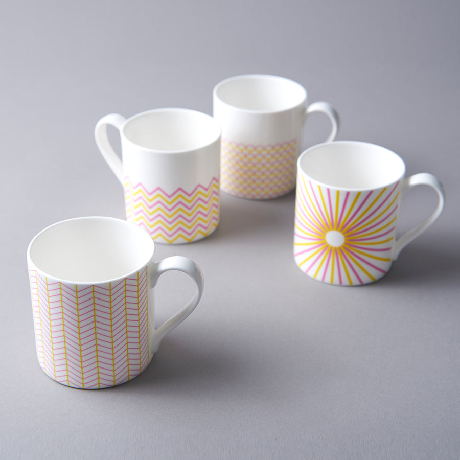 Ripple Mug in Pink & Yellow